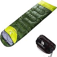Camel Saco de Dormir de Acampada Single/Doble Sobre Familiar Ultraligero Camping Excursiones Verano Compacto Tipo Momia 3 Estaciones