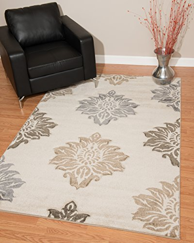 United Weavers of America 40101850Townshend Kollektion Souffle Modernes Bereich Teppich Modern 5' x 8' Cremefarben (Teppich 5x8 Bereich)