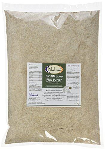 Makana ® Biotin 3000 PRO Pulver, für stabile Hufe, 1000 g Beutel (1 x 1 kg)
