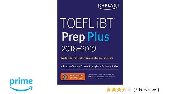 Buy TOEFL iBT Prep Plus 2018-2019 4 Practice Tests + Proven