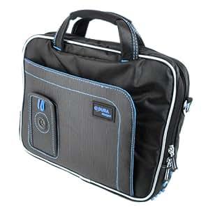 Protection sécurisée-Sac bandoulière pour Panasonic Toughbook CF-D1 MK1 pour tablette (Intel Core i5-- 2520 m vPro 2,5 GHz, Windows 7 Professional), Bleu/noir, avec espace de rangement