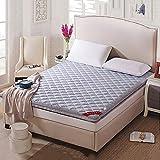 ASDFGH Folding Tatami-matratze, Traditionellen Japanischen Boden Futon-matratzen Ultra Soft Schlafen pad, Faser-matratzenauflage Student Schlafsaal-Grau Voll