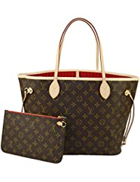 Louis Vuitton Neverfull MM Monogram M41177 - Bolso, color cereza