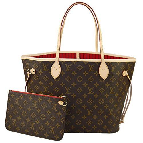 louis-vuitton-handtasche-neverfull-mm-monogram-m41177-kirschrotes-futter