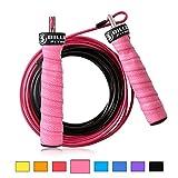 5BILLION Springseil Speed Rope - Verbiegen - Einstellbar - Workout für Double Unders, Fitness, WOD,...