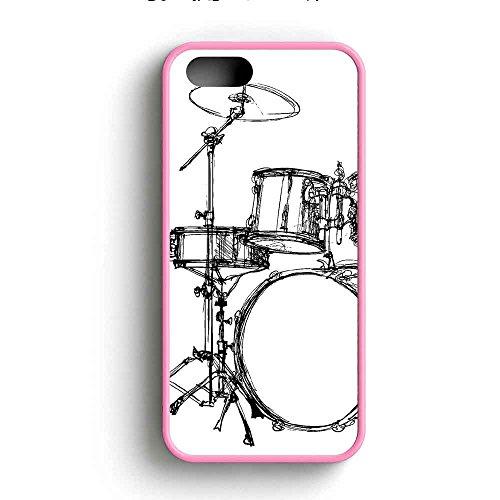 drum-set-art-sketch-couverture-coque-iphone-5-5s-cas-rubber-frame-pink-fit-pour-coque-iphone-5-5s-k4
