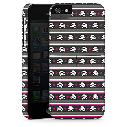 Apple iPhone X Silikon Hülle Case Schutzhülle Skull Pattern Punkte Premium Case StandUp