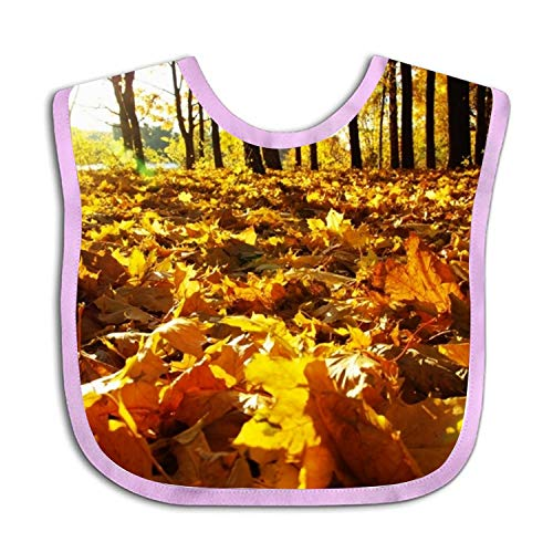 Fallen Leaves Over Ground Baby Bib Toddler Absorbent Feeding Scarf Drool Teething -