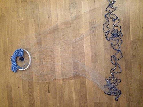 Nr.1 Wurfnetz mit 2,43m Durchmesser,Angelnetz,Neues Profi Wurfnetz Model,Cast Net