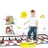 Vneirw musical Tapis de clavier de piano, Tapis musical, Tapis, Early Education musicale puzzle bébé enfants Jouets, coloré, 100cm x 40cm