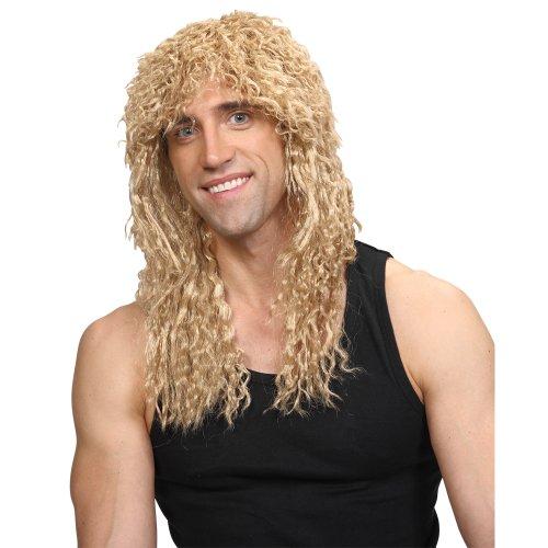 re Rockstar-lange blonde Karneval- / Halloween-Perücke (Halloween Rockstar Ideen)