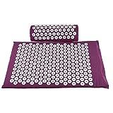 CLICK2BUY M8 Set purple: Acupressure Massage Mat Massager Cushion Mat Shakti Relieve Acupressure Mat Body Pain Acupuncture Spike Yoga Mat with Pillow