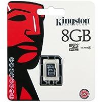 Kingston SDC4/8GBSP Speicherkarte (8GB, Micro SD HC, Class 4, ohne Adapter, für Mobiltelefone)