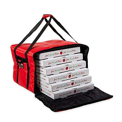 Borsa Termica Porta Pizze Da Asporto HotPizza, Borsa Frigo Per Pizza Calda e Per Alimenti, Fino a 5/6 Scatole Di Pizza + Patatine e Bibite o Bevande, Zaino Termico Portapizze Per Pizzeria 35.5X35.5 Cm