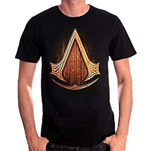 Assassins Creed Insignia Wood T-Shirt Schwarz Baumwolle