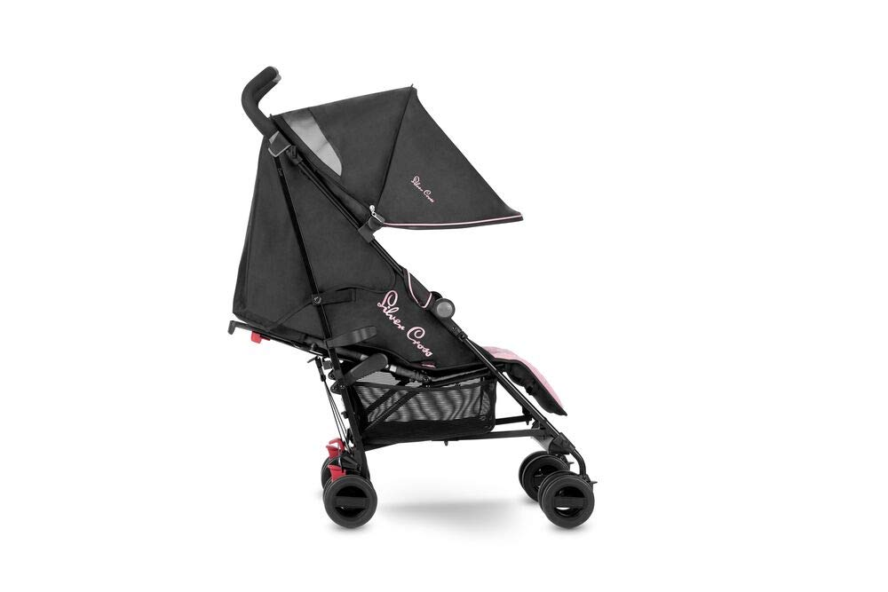 Silver Cross Zest Powder Pink Silver Cross Ultra lightweight zest pushchair, weighing in at only 5.8kg, is suitable from birth up to 25kg It has a convenient one-hand fold, while the compact design makes it easy to store The fully lie-flat recline is best in its class 1