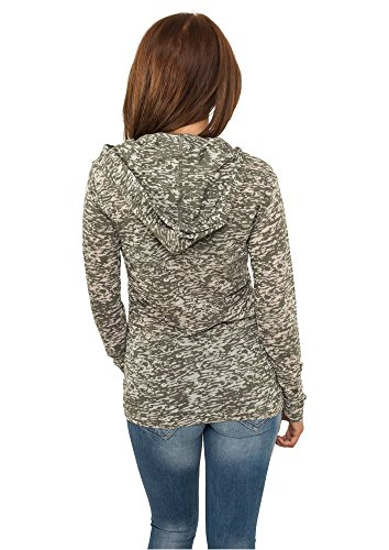 Urban Classics Ladies Melange Burnout Sweats à cap Olive