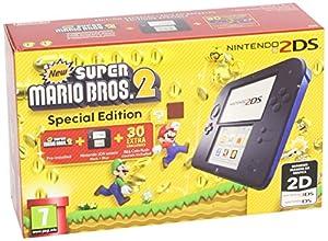 nintendo ds: Nintendo 2Ds - Consola, Color Azul + New Super Mario Bros 2