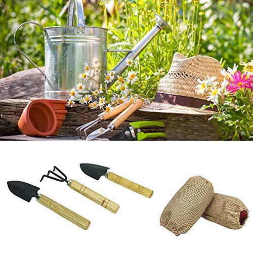 Earthily 6PCS Kindergarten-Kit mit Wasserdichter Spielschürze Schutz und Einer Fronttasche, Ärmeln, Gartengeräte für Mädchen und Jungen Gemüse Blumen Rasen oder Drinnen elegant (Was Eins Und Was Zwei T-shirts)
