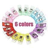 Cucito Clip, Supmaker 60 Pezzi Clip Plastica 6 Colori Multiuso per Cucire Clip Craft Accessori per Cucito, Quilting, Uncinetto