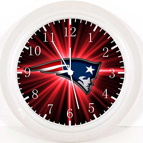 New England Patriots Wanduhr 25,4 cm Will Be Nice Gift und Raum Wand Decor E98