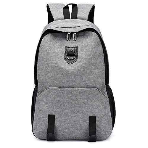 Große Kapazität Rucksack Mann Reisetasche Bergsteigen Rucksack Männer Gepäck Leinwand Eimer Umhängetaschen für Jungen Männer Rucksäcke grau 47x30x15cm