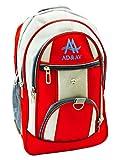 #8: AD & AV RED & GREY SCHOOL BAG