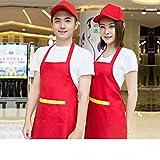 Arbeitskleidung Schürze Kundenspezifische Supermarkt Tee-shop Kaffee-shop Schürze Obst-shop Kellner Anzeigen Rund Um die Taille,C