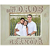 Yaya Cafe Birthday Gifts For Grandfather Engraved Photo Frame Wooden - King Best Dads Get Promoted To Grandpa