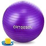 Arteesol Gymnastikbälle 65cm 75cm (Violett 75cm)