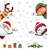 LUTER PVC Navidad Pegatina de Pared - Vinilos Decorativos para Ventanas para Decoraciones...