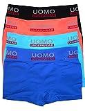 LisaModa 4er Pack Seamless Boxershorts Boys uni Uomo 110-122