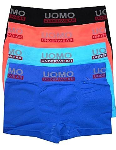 LisaModa 4er Pack Seamless Boxershorts Boys uni Uomo 128-140