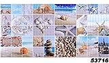 1 PVC Dekorplatte Mosaic Wandverkleidung Platten Wand Paneel 96x48cm, 53716
