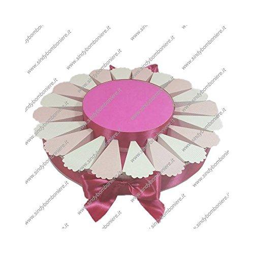 Struttura torta bomboniera 20 fette bicolore portaconfetti fai da te confezione (4)