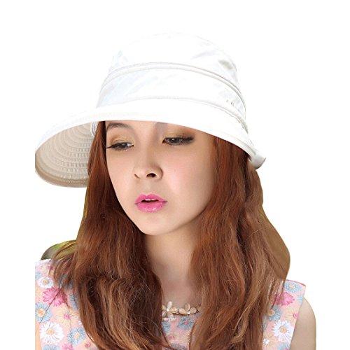 Lerben® Womens Casual Wide Brim 2in1 Combined UV Traveler Summer Golf Tennis Sun Cap