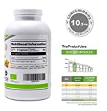 Organic Turmeric Curcumin Supplement 700mg with Black Pepper | 365 Easy Swallow Pills | Suitable for Vegetarians & Vegans | Recommended by Arthritis Sufferers | Made in UK