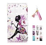 E-Panda Huawei P20 Lite Hülle Schmetterling Mädchen Spitze 3D Muster Design PU Leather Wallet Cover Flip klappbar Case Handyhülle Lederhülle Tasche Etui schutzhülle mit Kartenfach