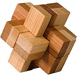 Fridolin 17468- Rompecabezas de madera de bambú
