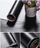 Glow4u Schwarz, Holz, mit rutschfester Kontakt Papier Vinyl selbstklebend mit Schubladen, für Küche Schränke Regal-Aufsatz 15,7x 196cm