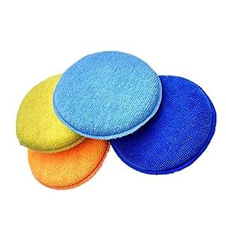 Aubess Schwamm Wachs Applikator für Wachs Applikator Autocare ultra-soft Mikrofaser Wax Applicator Pads blau marineblau 13.5X2.5cm