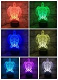 Tierschildkröte Led Nachtlicht Farbwechsel Dekoration Lampe Kinder Kinder Baby Kit Nachtlicht Schildkröte 3D Lampe