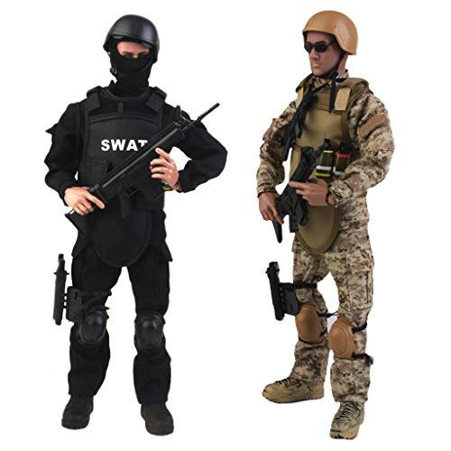 Sharplace 1/6 Soldado De Combate De Las Fuerzas Especiales Soldier SWAT \u0026 ACU Soldier 12 ''Figuras De Acción