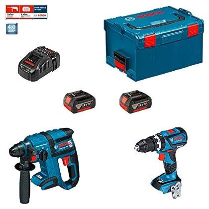 Bosch Profesional - Kit Bosch GBH 18 V-EC + GSB 18-2-LI (2 x 4,0Ah + AL1860CV)