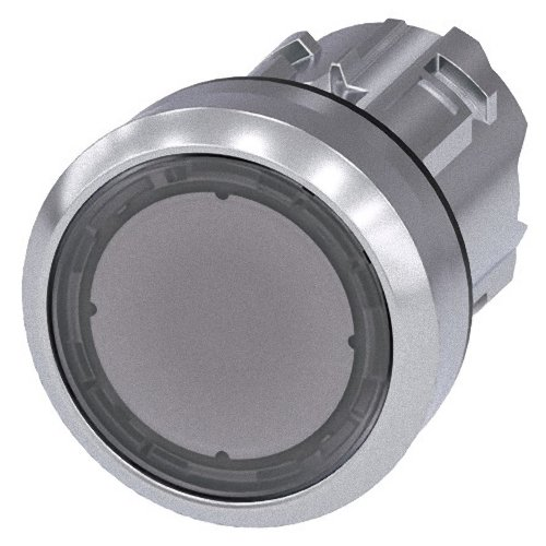 Siemens Sirius ATC - Poussoir métallique/A brillant transparent bouton rasante momentaneo