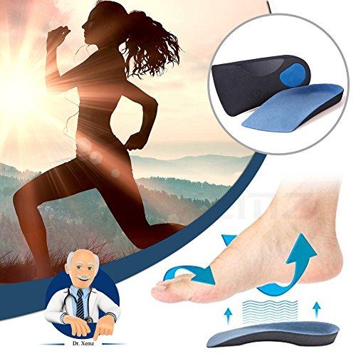 3/4EVA Einlegesohlen, Arch Dämpfung, Senkfuß Metatarsal Schuh fügt, flach Füße unterstützt Korrektoren, duftet Sport Pad–Über Pronation Ferse Schmerzen Plantarfasziitis X-Large