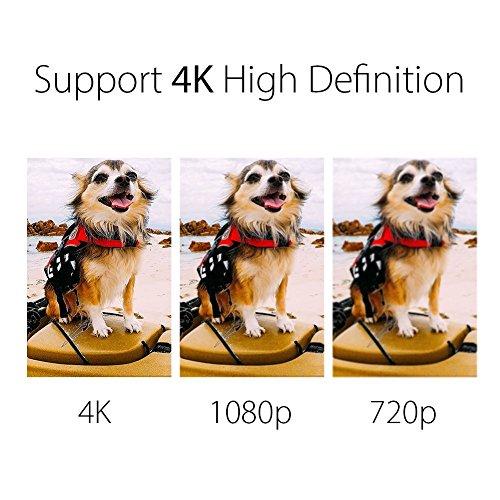 EKEN H8 Pro 4K Actionkamera, wasserdichte Full HD Wifi Sportkamera mit 4K30 / 1080P60 / 720P200fps Video, 12MP Foto und 170 Weitwinkelobjektiv, beinhaltet 17 Montagesätze, 2 Batterien (Schwarz) - 2