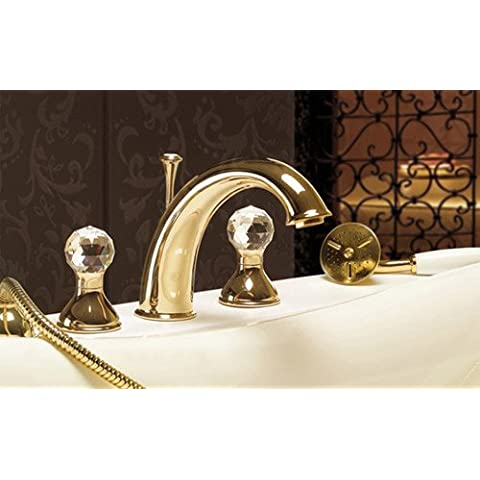 Elegante 4fori per vasca da bagno rubinetto
