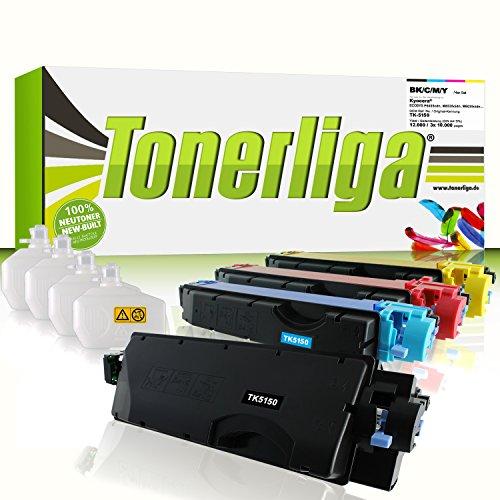 Preisvergleich Produktbild 4x TK-5150 Toner kompatibel f. Kyocera Ecosys P6035cdn / M6535cidn / M6035cidn - 100% fabrikneue Ware - inkl. 4 Resttonerbehälter
