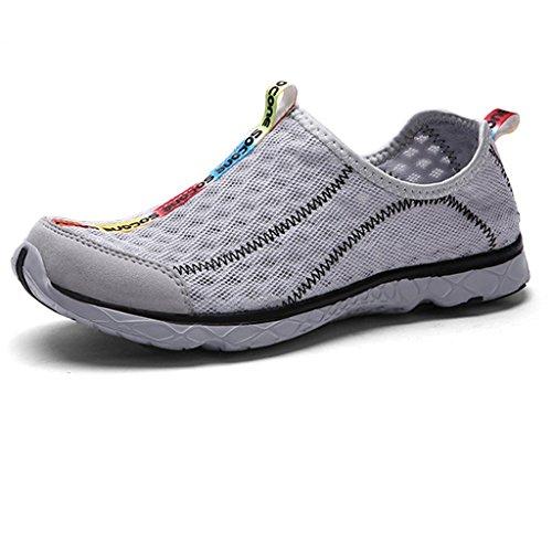Oriskey Aquaschuhe / Bootsportschuhe / Strandschuhe / Badeschuhe / Surfschuhe / Wassersportschuhe / Wasserschuhe / Schwimmschuhe für Herren Grau pUSVw
